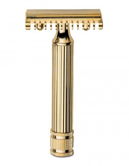Fatip - rasoio doppia lama dorato 80 mm