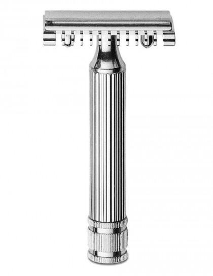 Fatip - rasoio di sicurezza nichelato 80 mm open comb