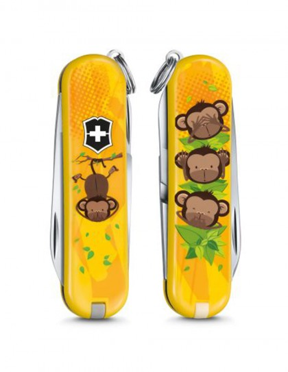 "Victorinox - Classic ""3 Wise Monkeys"" Coltello Multiuso 58 mm"
