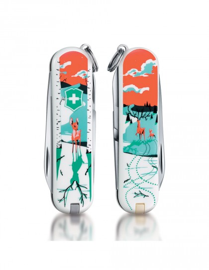 "Victorinox - Classic ""They'll grow, deer"" Coltello Multiuso 58 mm"