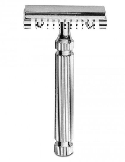Fatip - rasoio di sicurezza nichelato 70 mm open comb